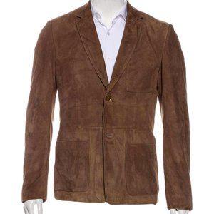 Burberry Prorsum - Brown Suede Sport Coat Jacket